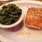 Grilled salmon w/green beans.   Texas Roadhouse, Orem, UT