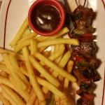 Buffalo skewer. Tough as nails..... my favorite part of this pic is the melted knife handle.....