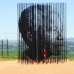 At the Nelson Mandela capture site and museum.