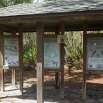 Sign showing various animals and birds found in park