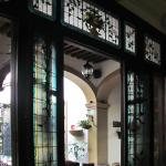 Some of the beautiful stained and leaded glass