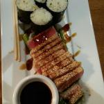 Yellowfin Ahi Tuna with Wasabi and a sesame dipping sauce