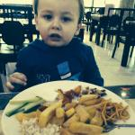 Grandson enjoyed his meal