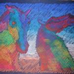 Kelpies in pastel