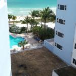View of pool and Atlantic Ocean from 8th floor room