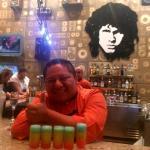Abrahaham ��perfecto bartender!  Rainbow shot!