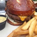 Beef patty. Brat patty. Pretzel bun. It's Wisconsin at it's finest.