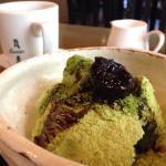 抹茶アイスクリームと珈琲のセット。 980円