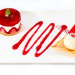 Decadent desserts await you - Strawberry Cheese with Vanilla Ice Cream and Sugar Spring
