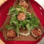 La BZH , noix de st Jacques , champignons, lardons ,salade