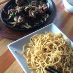 Shaken beef & garlic noodles, $17 on the specials board