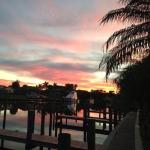 Beautiful sunset at Dockside Grille