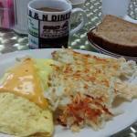 2 egg Bacon/Cheese Omelet B&N Diner
