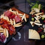 Selection of Spanish cured meats and cheeses