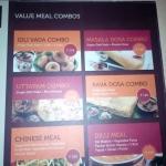 Combo meal option at SAGAR RATHNA