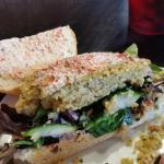 Inside of the sandwich