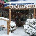 Notre terrasse sous la neige