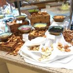 One of the buffet tables at Spice Island
