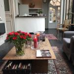 A place to sit and plan our day in Bruges