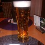 Beer in the restaurant
