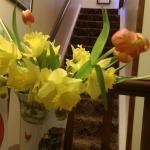 Fresh flowers on reception.