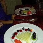 Kids menu starter- Fan of melon and forest fruits
