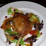 Duck Confit, Potato Bread, Pomegranate, Hot Orange & Cointreau Jam