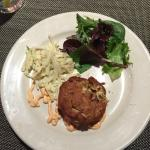 Tasty Maryland Crab Cake, actually a stand out