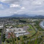 View from the top, Mount Taranaki may show herself