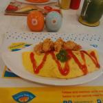 tomato fried omurice menu at Sunny Side Up Restaurant