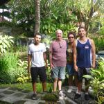 Dans le jardin de l'hotel