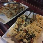 Vegetarian and chicken pide