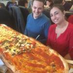 show stopper metre long pizza!