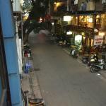 street below hotel