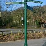 Lovers Walk signpost ed