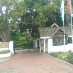 The entrance to the Fancourt Hotel and Country Club