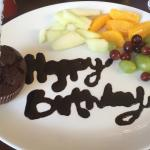 Birthday muffin :)