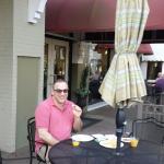 Breakfast on the patio.