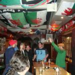 A mini choir in the Welsh Dragon Bar.