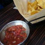 Delicious salsa and hot chips!