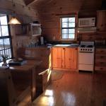 Interior of the Oak Cabin