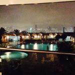 Vista do Piano Bar, no restaurante do Hotel Ilha do Boi.