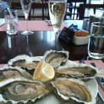 Champagne and Oyster..
