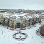 High floor, campus view