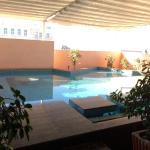 vue de la piscine privée