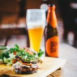 Banting friendly venison burger alongside some delicious craft