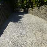 Die steile Zufahrt