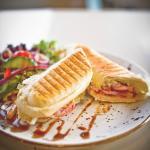Ham, Cheese and Mustard Mayonnaise Panini