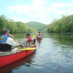 canoeing down the river
