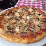 One of the pizzas